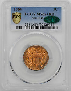 Click now to see the BUY IT NOW Price! 1864 2C PCGS MS 65  RD