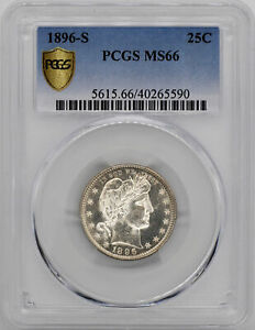 Click now to see the BUY IT NOW Price! 1896 S BARBER 25C PCGS MS 66