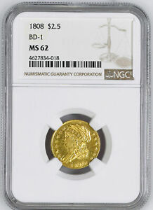 Click now to see the BUY IT NOW Price! 1808 CAPPED BUST $2.5 NGC MS 62