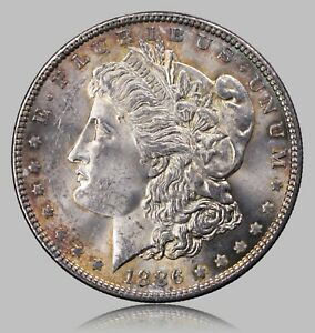 Click now to see the BUY IT NOW Price! 1886 P MORGAN SILVER DOLLAR NICE ORIGINAL UNCIRCULATED COIN LIGHT TONING