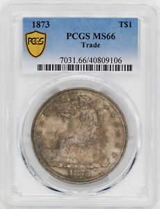 Click now to see the BUY IT NOW Price! 1873 TRADE T$1 PCGS MS 66