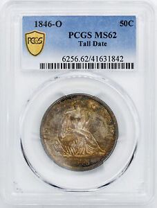 Click now to see the BUY IT NOW Price! 1846 O LIBERTY SEATED 50C PCGS MS 62