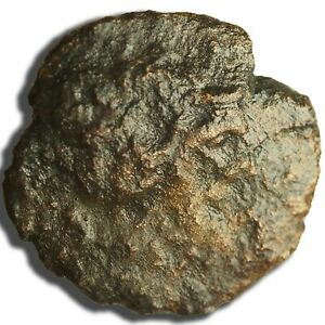 ANCIENT GREEK COIN FOR IDENTIFICATION ZEUS ON OBVERSE AE25 8.6G   LOT 1024