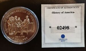 AMERICAN MINT INDEPENDENCE $5 2000 COPPER NICKEL UNCIRCULATED LIBERIA 02498
