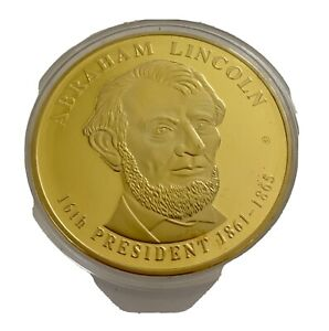 AMERICAN MINT 2009 ABRAHAM LINCOLN PRESIDENTIAL DOLLAR TRIALS 24K GOLD PROOF