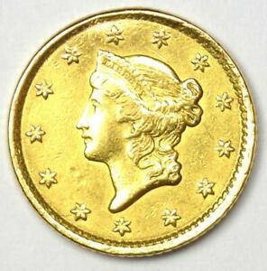 1852 LIBERTY GOLD DOLLAR G$1   AU DETAILS    EARLY GOLD COIN