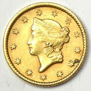 1851 LIBERTY GOLD DOLLAR G$1   AU DETAILS  SCRATCHES     EARLY GOLD COIN