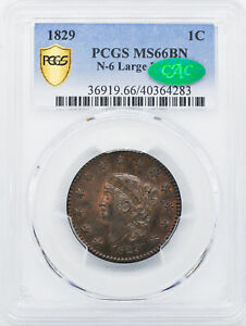 Click now to see the BUY IT NOW Price! 1829 CORONET HEAD 1C PCGS MS 66 BN