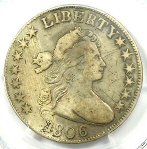 1806 DRAPED BUST HALF DOLLAR 50C COIN   CERTIFIED PCGS VF DETAILS