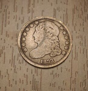 1833 CAPPED BUST DIME 10C NICE LIBERTY