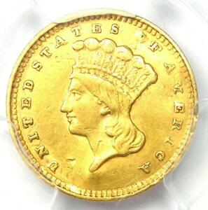 1856 INDIAN GOLD DOLLAR G$1   CERTIFIED PCGS AU DETAILS    EARLY COIN