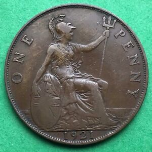 LOT I2417 UK 1921 GREAT BRITAIN ONE PENNY    KING GEORGE VO