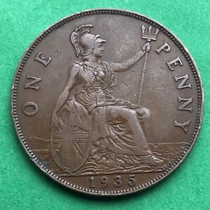 LOT I2421 UK 1935 GREAT BRITAIN ONE PENNY    KING GEORGE VO