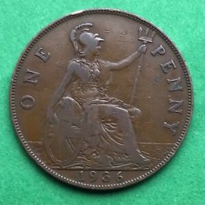 LOT I2422 UK 1936 GREAT BRITAIN ONE PENNY    KING GEORGE VO