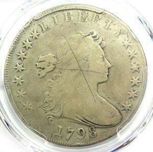 1798 DRAPED BUST SILVER DOLLAR $1 COIN   CERTIFIED PCGS FINE DETAIL    COIN