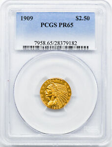 Click now to see the BUY IT NOW Price! 1909 INDIAN $2.5 PCGS PR 65