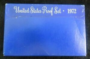 1972 UNITED STATES PROOF SET   5 COINS   IN ORIGINAL BOX   GREAT BIRTHDAY GIFT