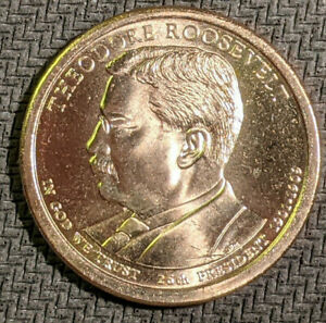 THEODORE ROOSEVELT   2013 P PRESIDENTIAL DOLLAR  1 COIN