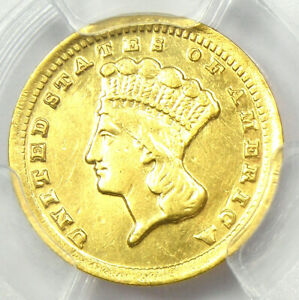 1859 C INDIAN GOLD DOLLAR G$1   CERTIFIED PCGS XF DETAILS    CHARLOTTE COIN