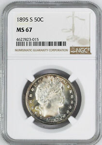 Click now to see the BUY IT NOW Price! 1895 S BARBER 50C NGC MS 67