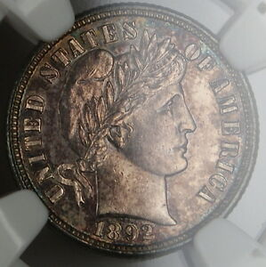 Click now to see the BUY IT NOW Price! 1892 O BARBER DIME NGC UNC DETAILS  VERY CHOICE BU  PL PROOFLIKE