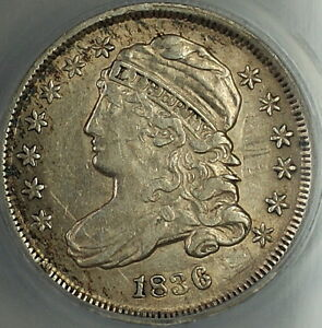 Click now to see the BUY IT NOW Price! 1836 CAPPED BUST SILVER DIME 10C ANACS AU 55 DETAILS PLEASING HIGH GRADE COIN