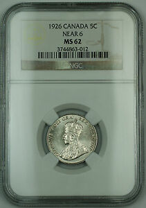 Click now to see the BUY IT NOW Price! 1926 NEAR 6 CANADA 5C FIVE CENTS COIN NGC MS 62  DATE
