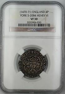 Click now to see the BUY IT NOW Price!  1470 71  ENGLAND YORK SILVER GROAT 4P COIN S 2084 HENRY VI NGC VF 30 AKR