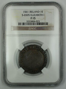 Click now to see the BUY IT NOW Price! 1561 IRELAND 1 SHILLING COIN S 6505 ELIZABETH I NGC F 15 AKR