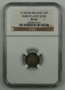 Click now to see the BUY IT NOW Price! 1190 98 IRELAND 1/2 PENNY COIN DUBLIN S 6205 JOHN NGC XF 45 AKR