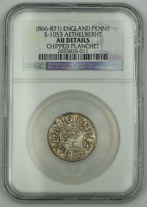 Click now to see the BUY IT NOW Price! 866 871 ENGLAND PENNY SILVER COIN S 1053 AETHELBERHT NGC AU DTLS CHPD PLNCHT AKR