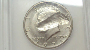 Click now to see the BUY IT NOW Price! COINHUNTERS   1971 D KENNEDY  HALF DOLLAR ICG MS63 STRUCK THROUGH ERROR