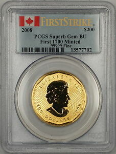 Click now to see the BUY IT NOW Price! 2008 CANADA $200 DOLLAR GOLD COIN PCGS SUPERB GEM BU  FIRST 1700 MINTED