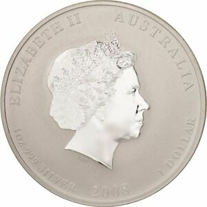 Click now to see the BUY IT NOW Price! [47526] AUSTRALIA ELIZABETH II DOLLAR 2008 PERTH  YEAR MOUSE SILVER