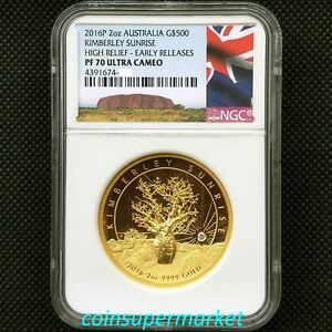 Click now to see the BUY IT NOW Price! 2016 AUSTRALIA THE KIMBERLEY SUNRISE 2OZ GOLD PROOF HIGH RELIEF COIN NGC PF 70UC