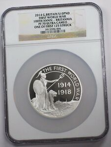 Click now to see the BUY IT NOW Price! 2014 GREAT BRITAIN SILVER 10 POUND COIN 1ST WORLD WAR 100TH ANNIVERSARY NGC PF70