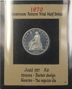 Click now to see the BUY IT NOW Price! 1870 PROOF ALUMINUM 50C PATTERN COIN JUDD 937 NGC PF 64 CAMEO R.E. COX JR WW