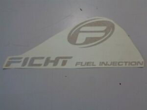 EVINRUDE FICHT FUEL INJECTION DECAL GOLD 17 3/4