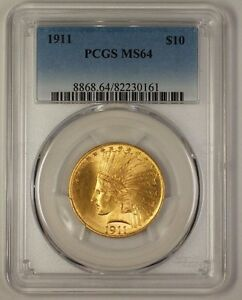 Click now to see the BUY IT NOW Price! 1911 US INDIAN $10 GOLD EAGLE COIN PCGS MS 64  GEM   JS