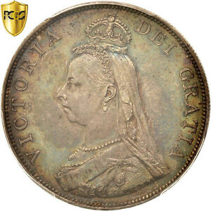 Click now to see the BUY IT NOW Price! [415991] GREAT BRITAIN VICTORIA DOUBLE FLORIN 1887 PCGS AU55 AU 55 58