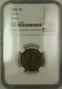 Click now to see the BUY IT NOW Price! 1866 NICKEL PATTERN PROOF 5C COIN NGC PF 64  PRIVATE RESTRIKE  J 523 JUDD WW