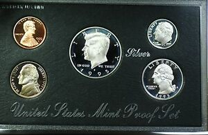 Click now to see the BUY IT NOW Price! 1995 S U.S. MINT COMPLETE SILVER PREMIER PROOF SET GEM COINS WITH BOX AND COA