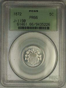 Click now to see the BUY IT NOW Price! 1872 SHIELD NICKEL PATTERN GEM PROOF 5C COIN PCGS PR 66 OGH J 1190 JUDD WW
