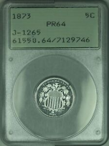 Click now to see the BUY IT NOW Price! 1873 SHIELD NICKEL PATTERN PROOF 5C COIN PCGS PR 64 OGH RATTLER J 1265 JUDD WW