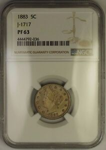 Click now to see the BUY IT NOW Price! 1883 LIBERTY V NICKEL PATTERN PROOF 5C COIN NGC PF 63 J 1717 JUDD WW