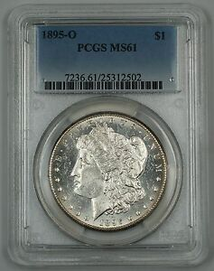 Click now to see the BUY IT NOW Price! 1895 O MORGAN SILVER DOLLAR COIN PCGS MS 61  CHOICE  PROOF LIKE   KEY DATE