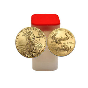 Click now to see the BUY IT NOW Price! 20 GOLD 2018 1 OZ. AMERICAN EAGLE COINS ONE TROY OUNCE EAGLES ROLL OF 20