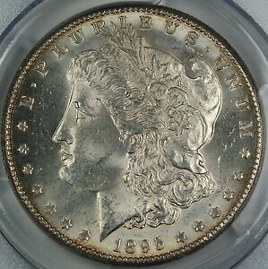Click now to see the BUY IT NOW Price! 1895 O MORGAN SILVER DOLLAR PCGS MS 62  CHOICE BU COIN  DGH