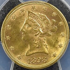 Click now to see the BUY IT NOW Price! 1898 PHILADELPHIA USA GOLD LIBERTY HEAD $10 MOTTO PCGS MS 63  KM102