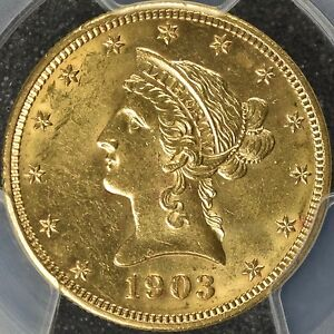 Click now to see the BUY IT NOW Price! 1903 PHILADELPHIA USA GOLD LIBERTY HEAD $10 MOTTO PCGS MS 63  KM102  TY3